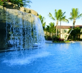 Resort Pool with Waterfall