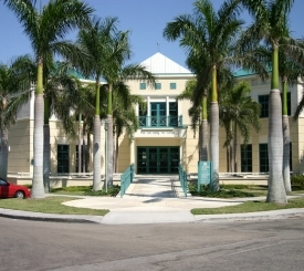 Front view of The von Liebig Art Center in Naples, Florida.