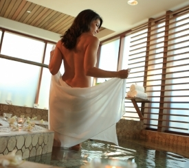 Relax and enjoy our plunge pool at The Spa at Marco.