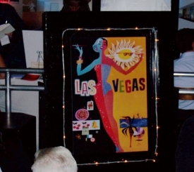 Vintage Vegas Poster with Chaser Lights