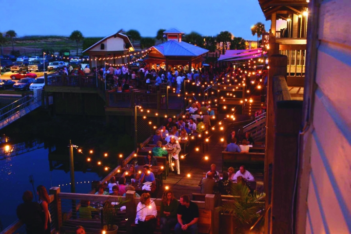 The areas largest outdoor waterfront dining! Beautiful views of Pensacola Bay and Seville Harbor