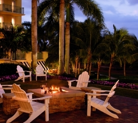 Enjoy a night stargazing while you relax next to the fire pits at The Ritz-Carlton Golf Resort, Naples