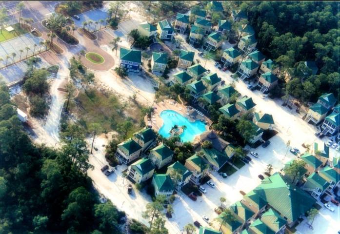 Purple Parrot Resort Aerial View