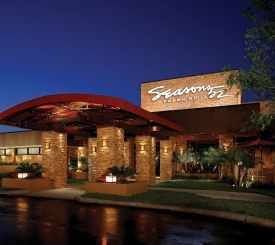 Seasons 52 is located just north of Vanderbilt Beach Rd. next to Mercato.