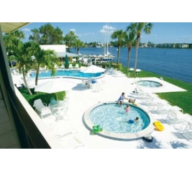 Relax on the Bayfront deck. Poolside bar and grill. Hot tub and childrens' wading pool. Daily Entree specials.