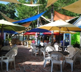 Enjoy your cupcakes on our patio at the Shoppes of Olde Marco