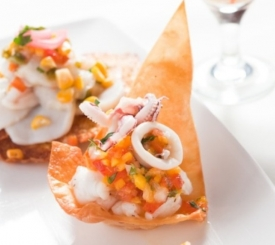 Grouper Y Calamar Ceviche