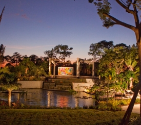 Brazilian Garden at Sunset
