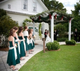 Wedding in the Norris Gardens at Historic Palm Cottage