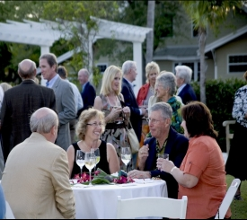 Successful Cocktail party at Historic Palm Cottage