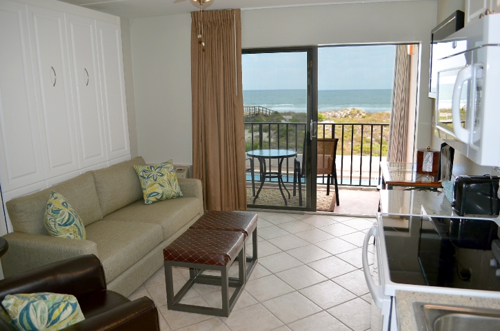 Enjoy a great ocean view from our oceanfront suites
