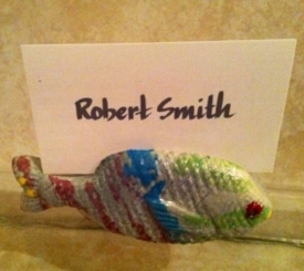 Fish place card holder