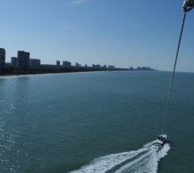 Birds eye view from our parasailing tour.
