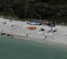 The bird's eye view of Naples Beach Water Sports.