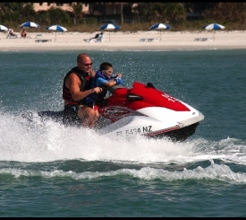 Play for an half an hour waverunner ride with your family.