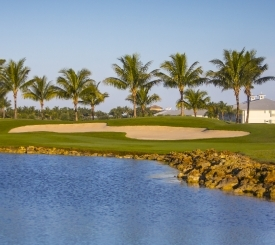 View from the 17th hole on the Flamingo Island course