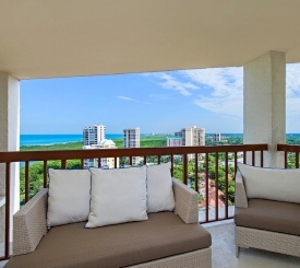 Furnished, private balconies with Gulf of Mexico views