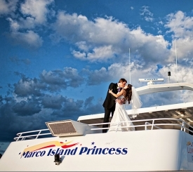 beautiful wedding aboard the Marco Island Princess