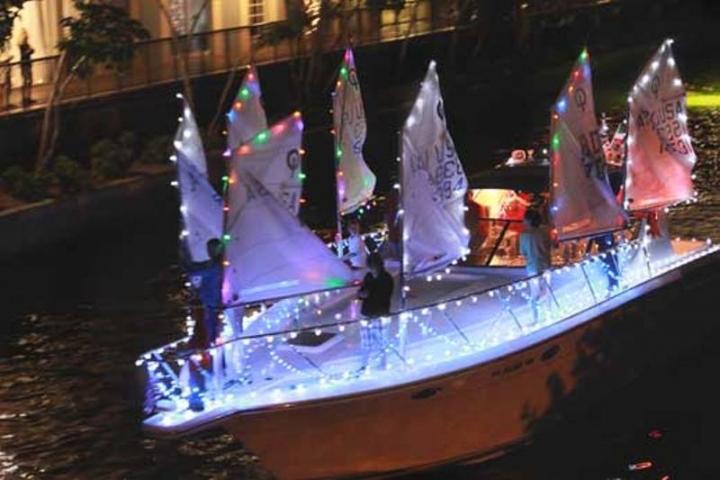 Holiday Boat Parade at The Village Shops at Venetian Way