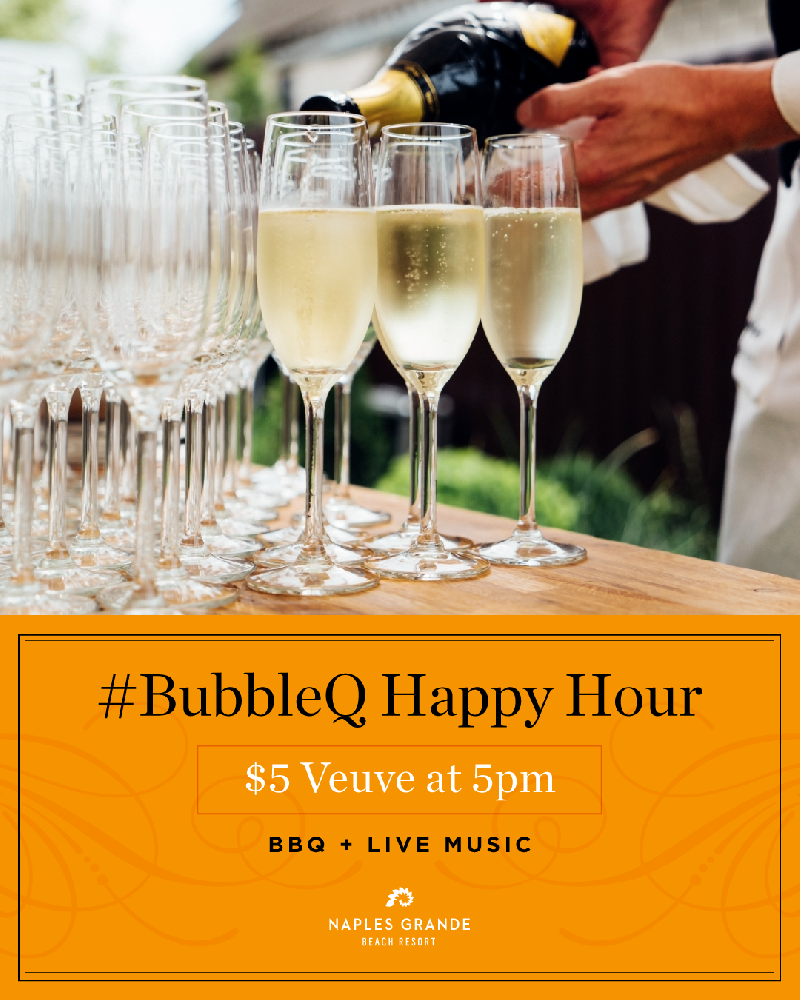 #BubbleQ Happy Hour $5 Veuve