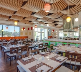 Contemporary interior design at Lamoraga Restaurant in Naples FL