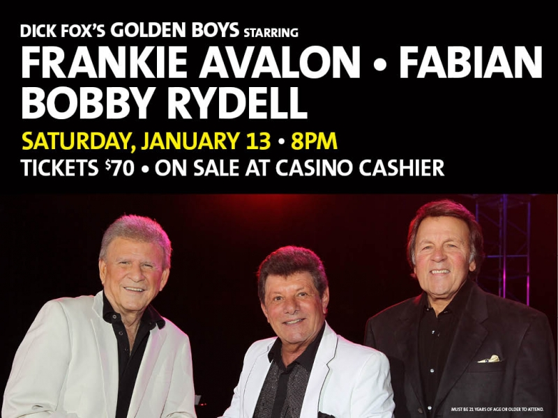 Dick Fox's Golden Boys – Frankie Avalon, Fabian and Bobby Rydell